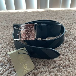 Burberry Checked Leather Belt size 34 (85)